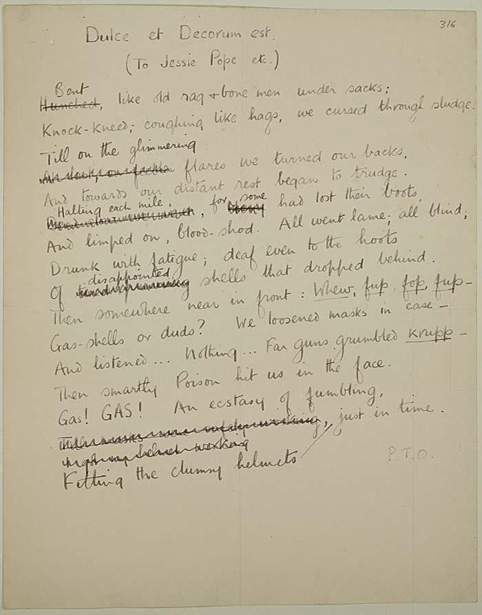 compare jessie pope and wilfred owen Jessie pope was one of the most widely read poets during ww1  but because she provides material to contrast and compare with the poetry of wilfred owen and.