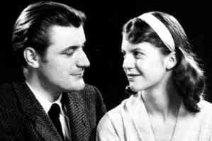 Ted Hughes with Sylvia Plath